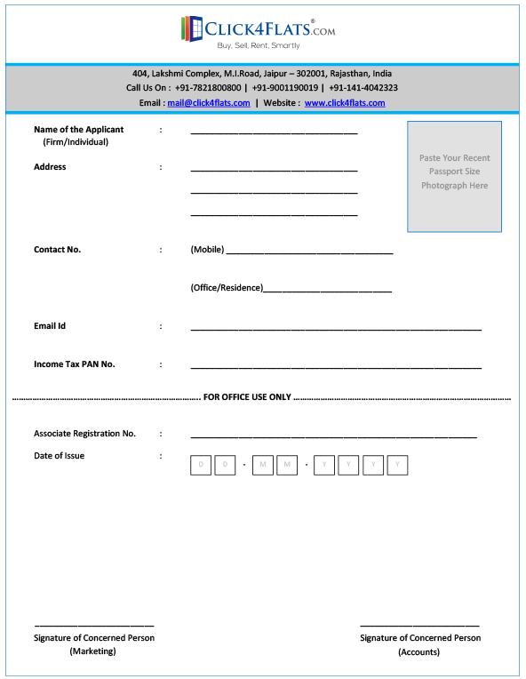 Associates Registration Form