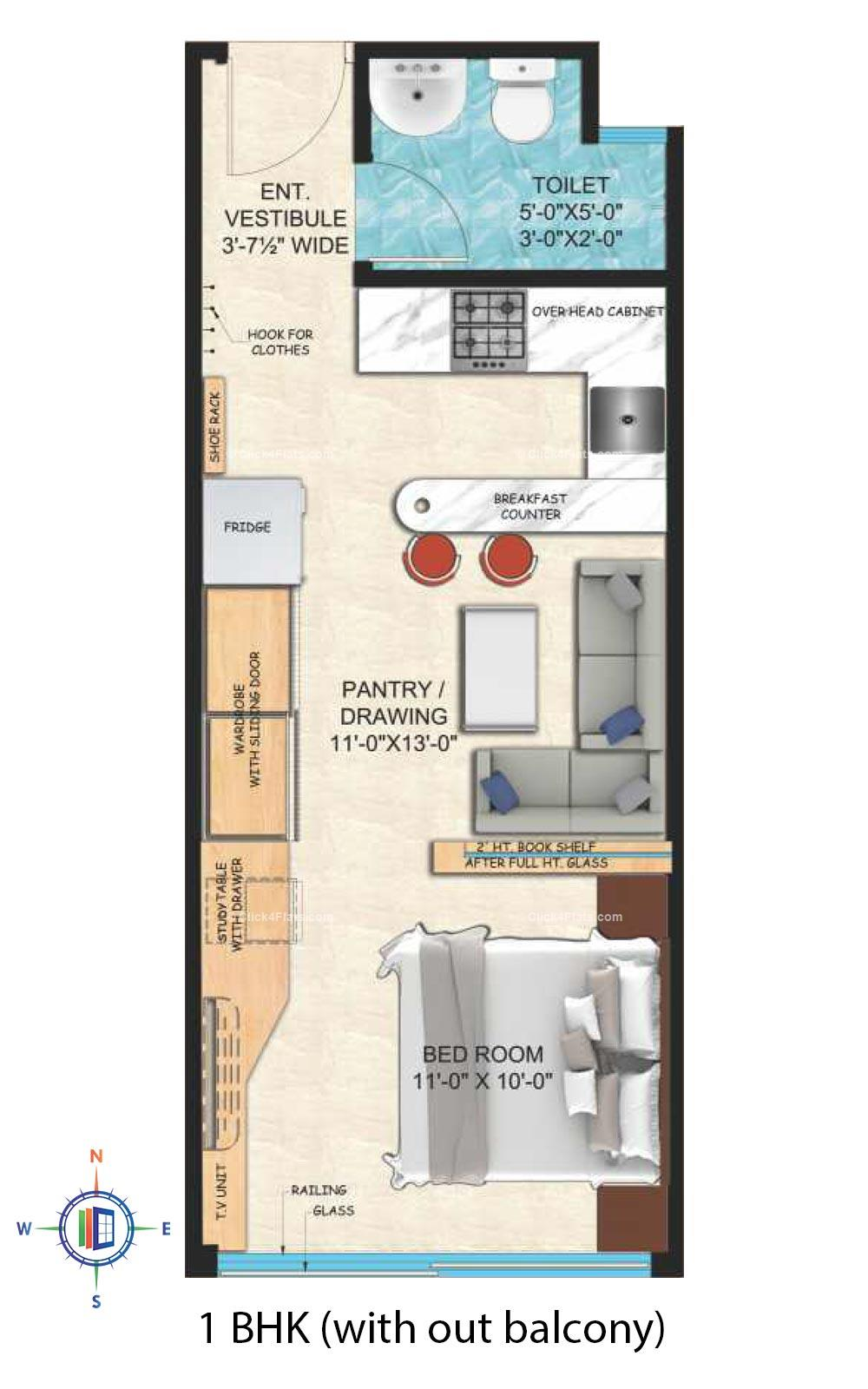 Upasana First Avenue 1 BHK