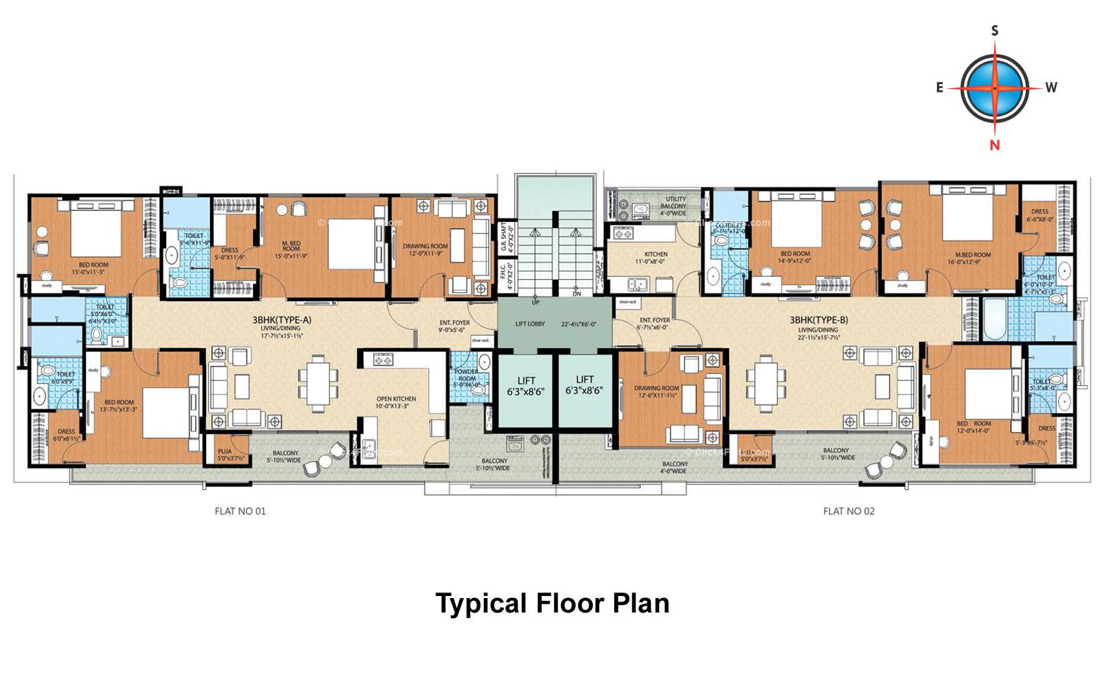 5th Avenue Typical Floor Plan