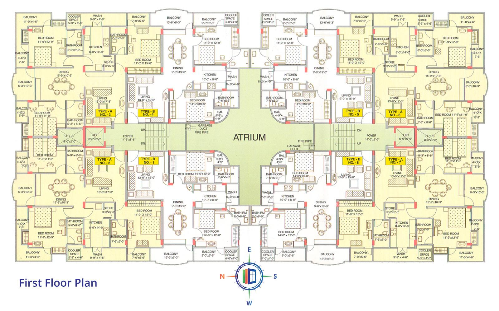 Akshat Enclave First Floor Plan