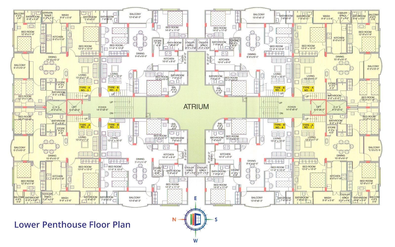 Akshat Enclave Lower Penthouse Floor Plan
