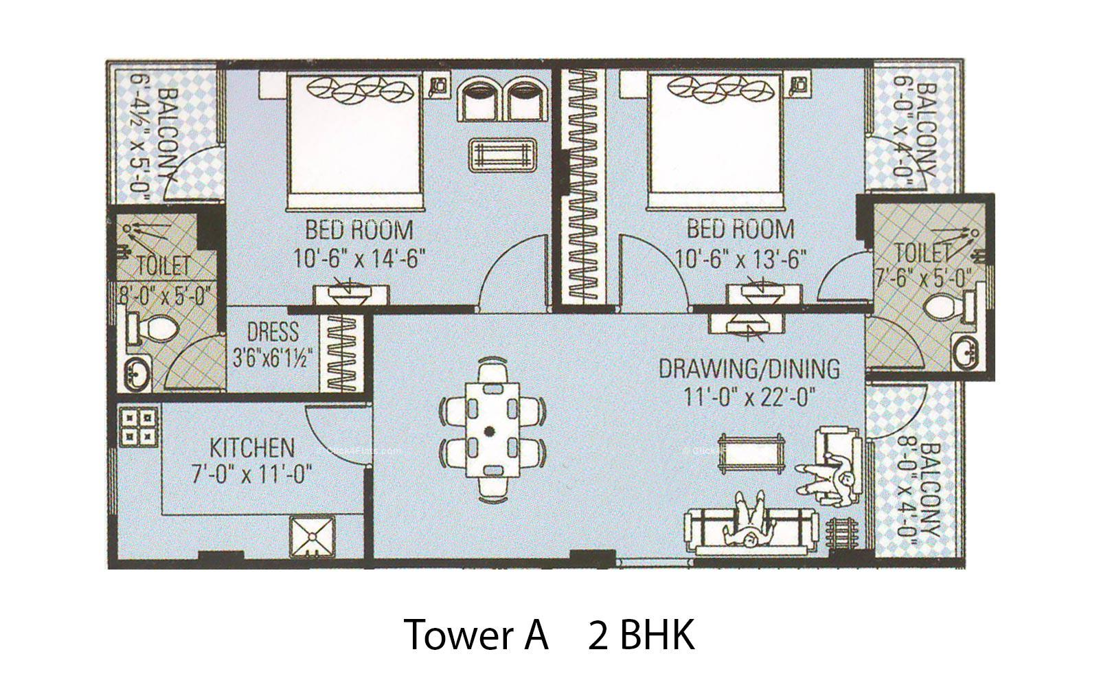 Amour Tower 2 BHK