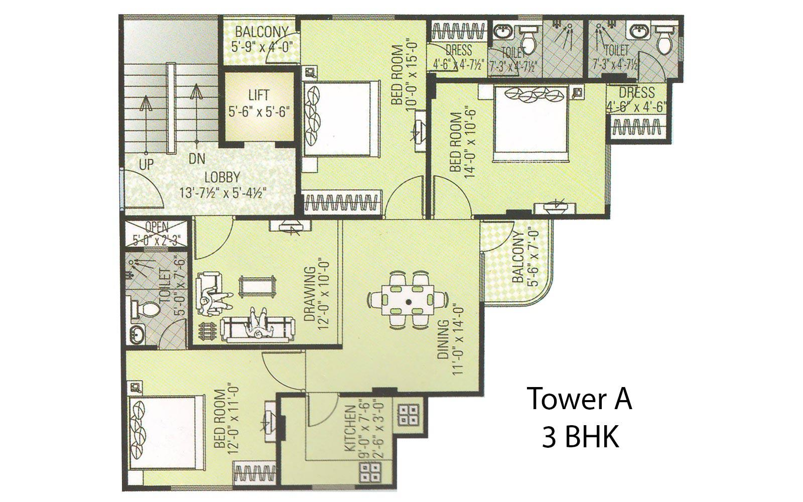 Amour Tower 3 BHK