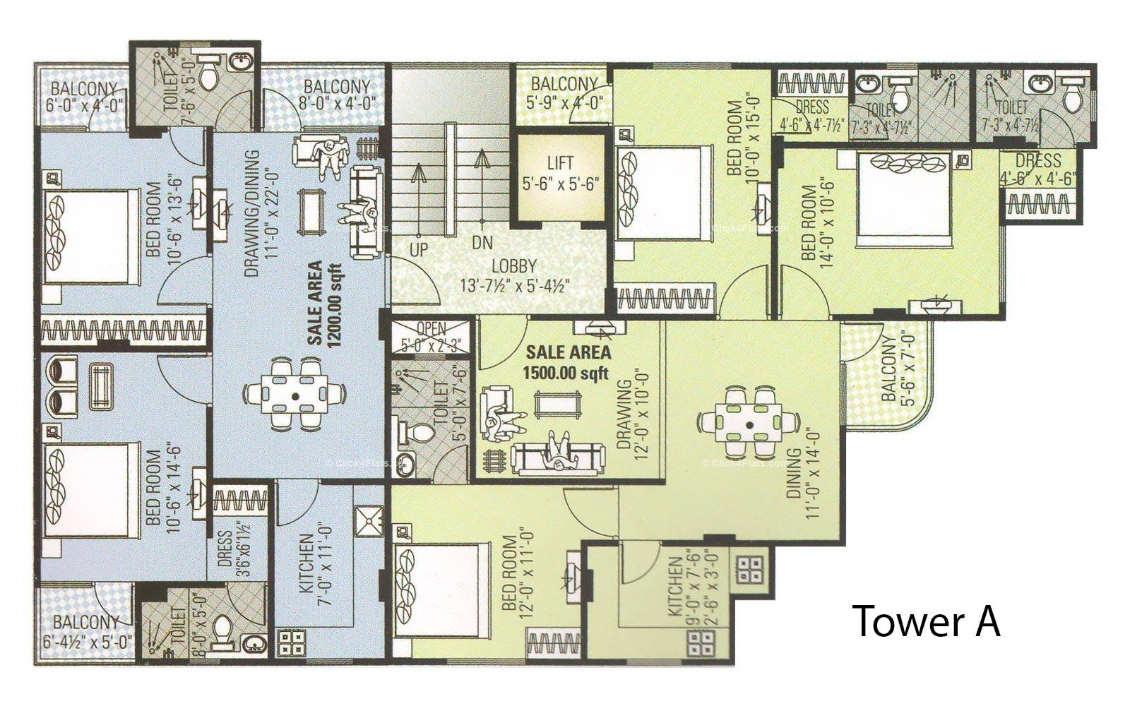 Amour Tower Typical Floor Plan (Tower A)