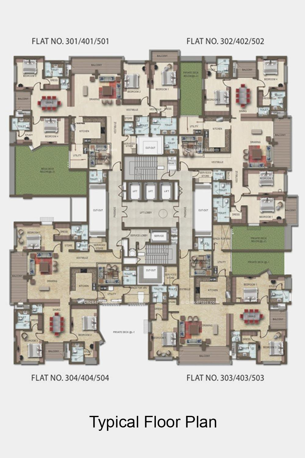 Argus Typical Floor Plan (1st to 5th Floor)