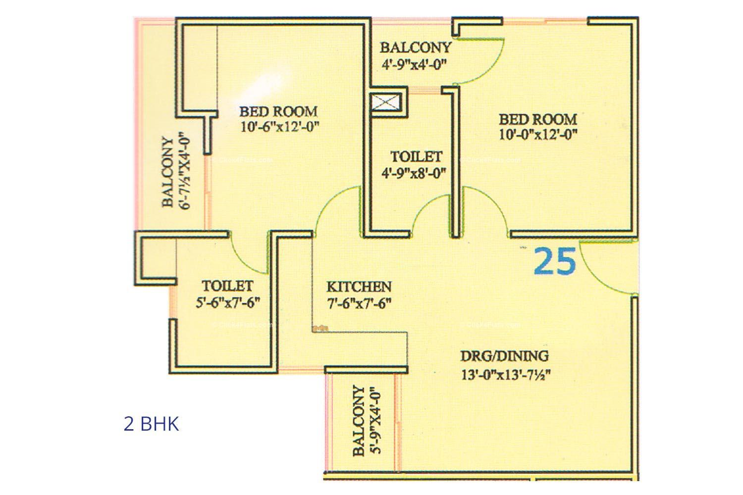 Ashish Heights 2 BHK