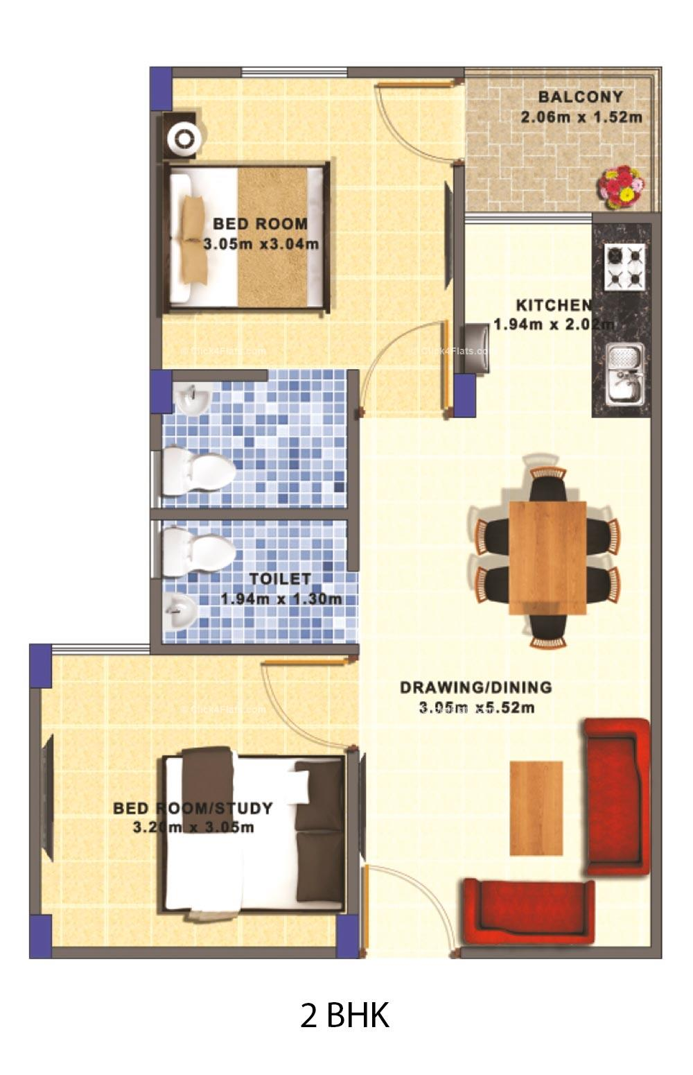 Avadh Homes 2 BHK