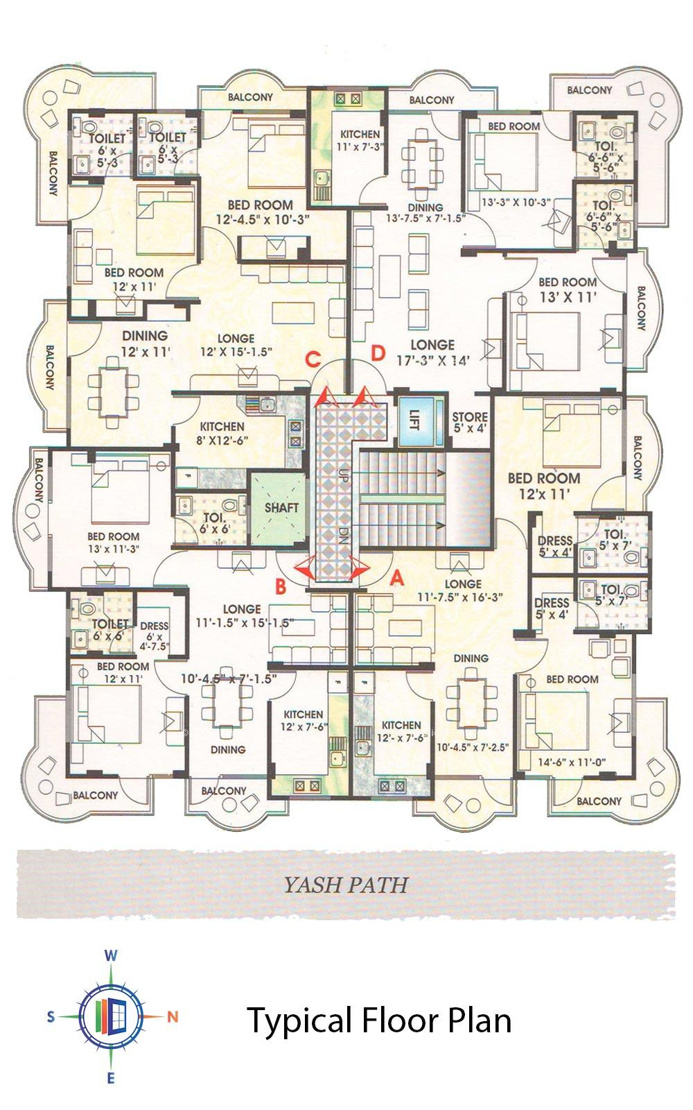Embassy Park Typical Floor Plan