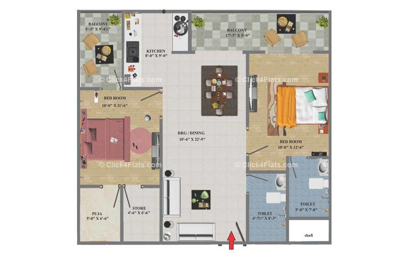 Eminent Towers 2 BHK