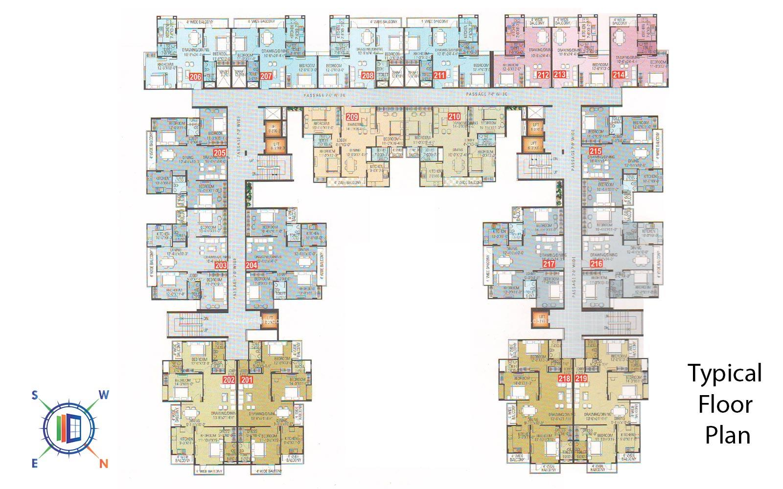 Euro Exotica Typical Floor Plan
