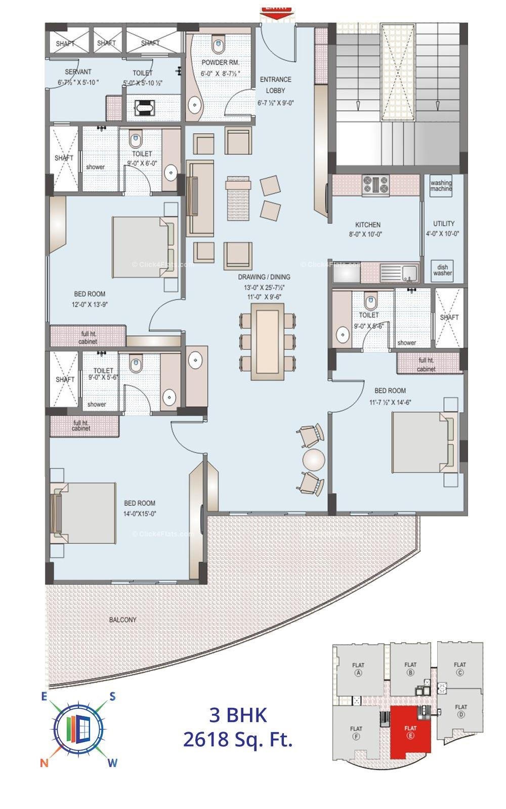 Felicity Solitaire 3 BHK 2618 square feet