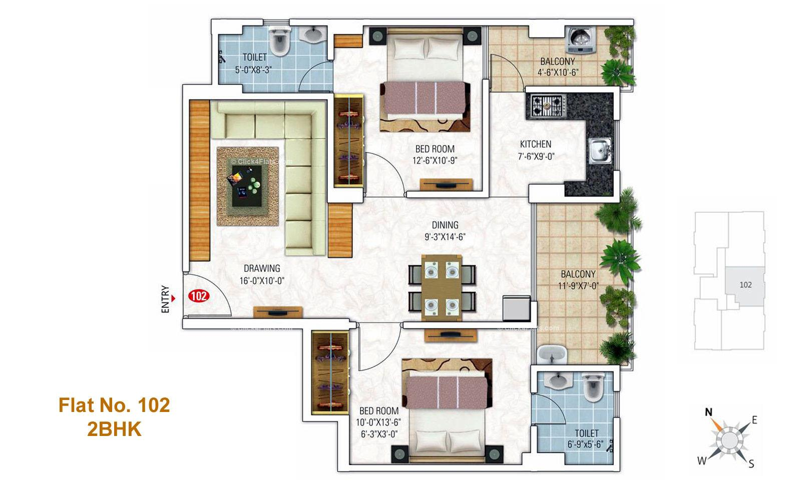 Royal Florence 2 BHK