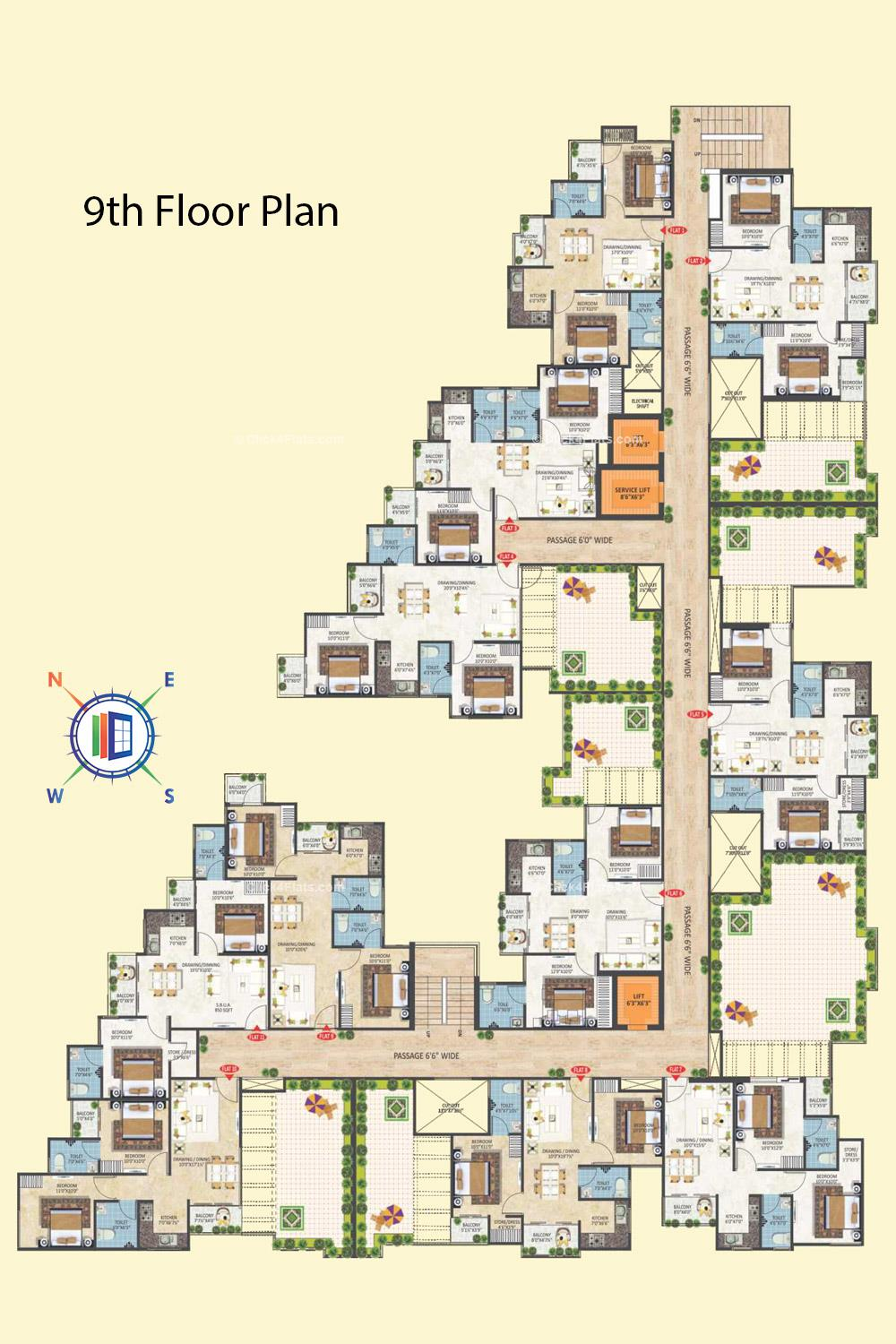Gokul Vatika 9th Floor Plan