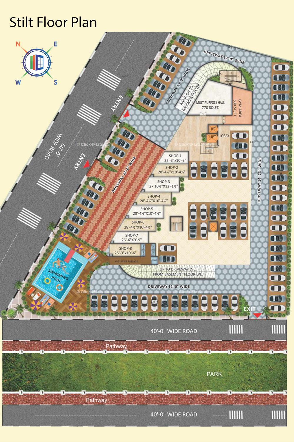 Gokul Vatika Stilt Floor Plan