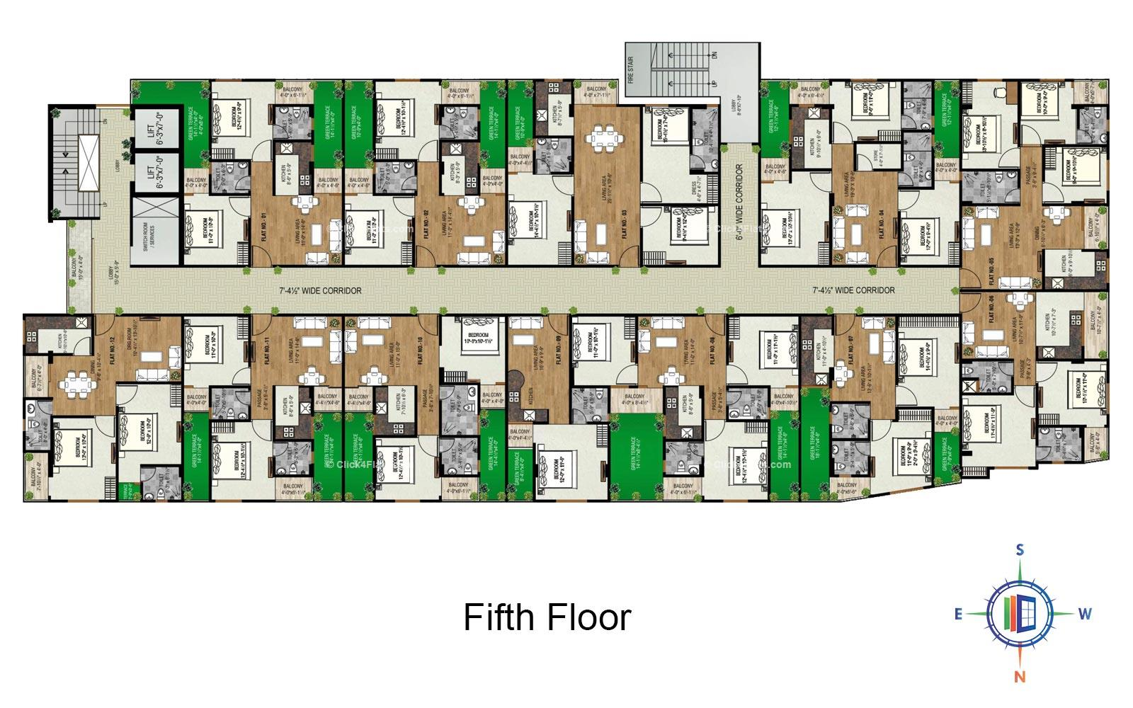 Golden Leaf Fifth Floor Plan