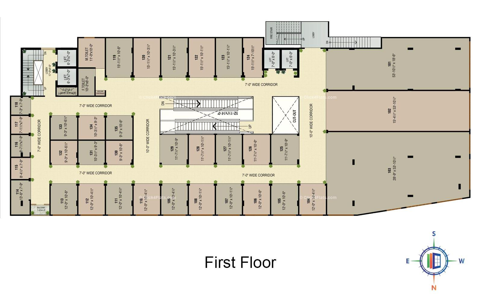 Golden Leaf First Floor Plan
