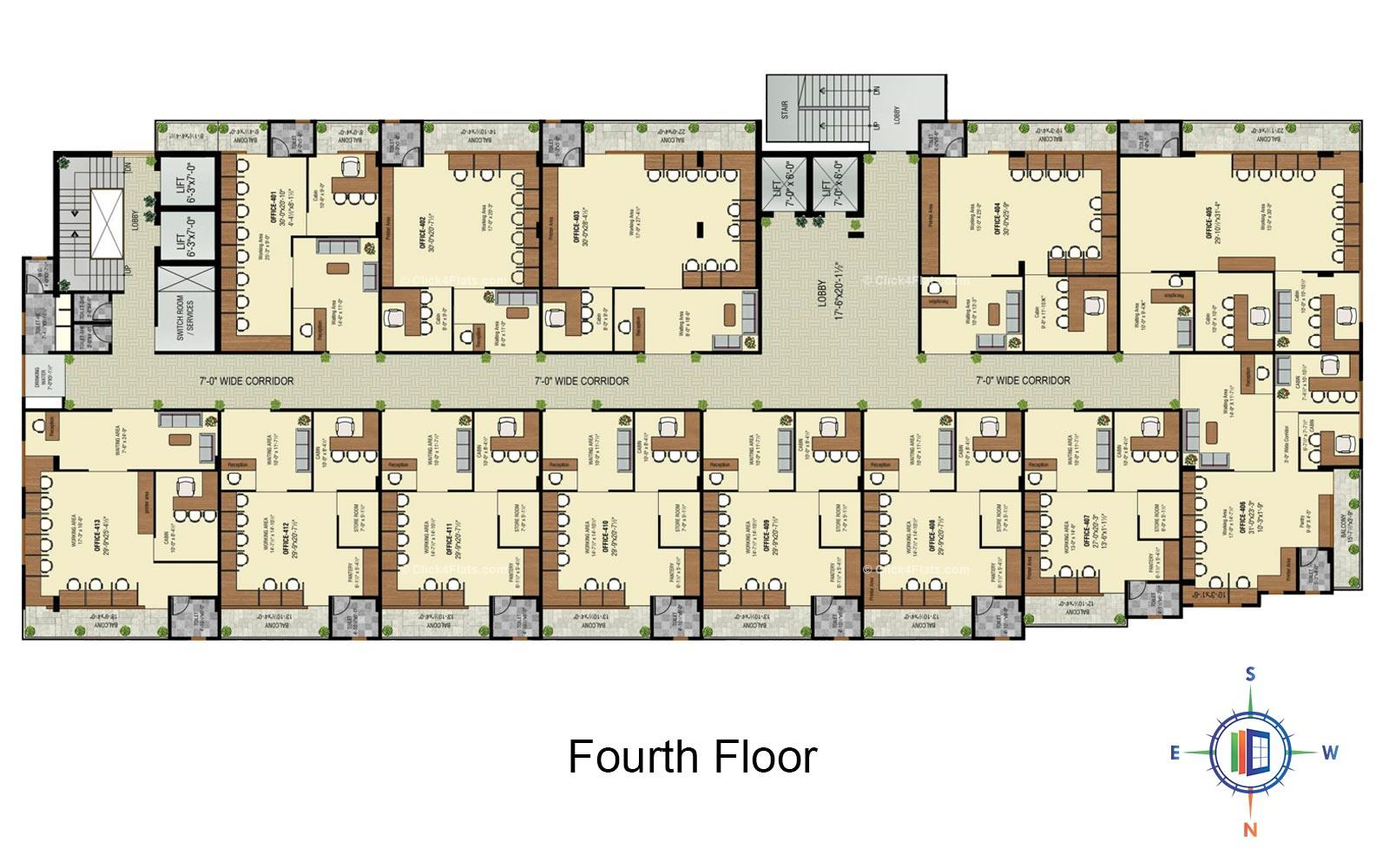 Golden Leaf Fourth Floor Plan