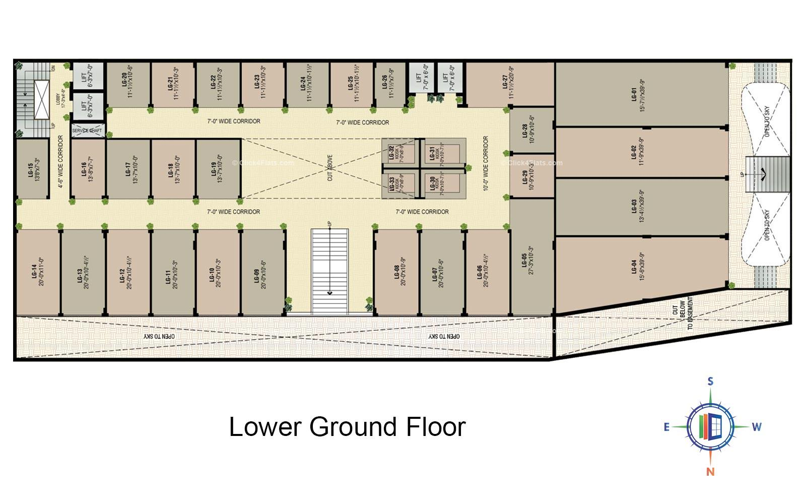 Golden Leaf Lower Ground Floor Plan