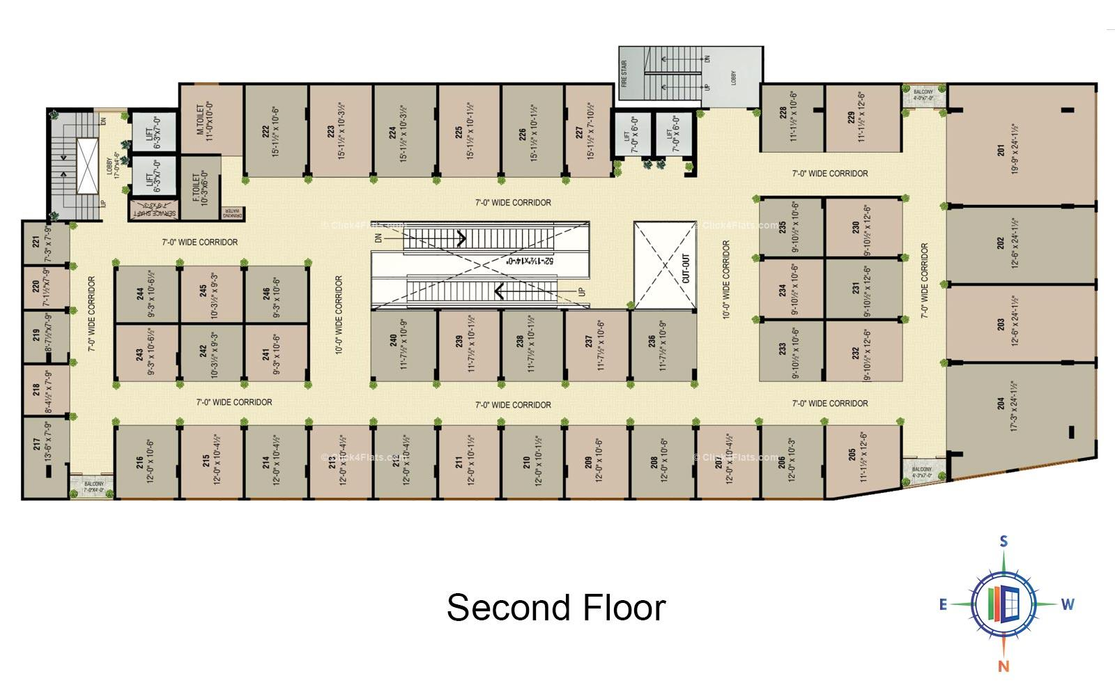 Golden Leaf Second Floor Plan