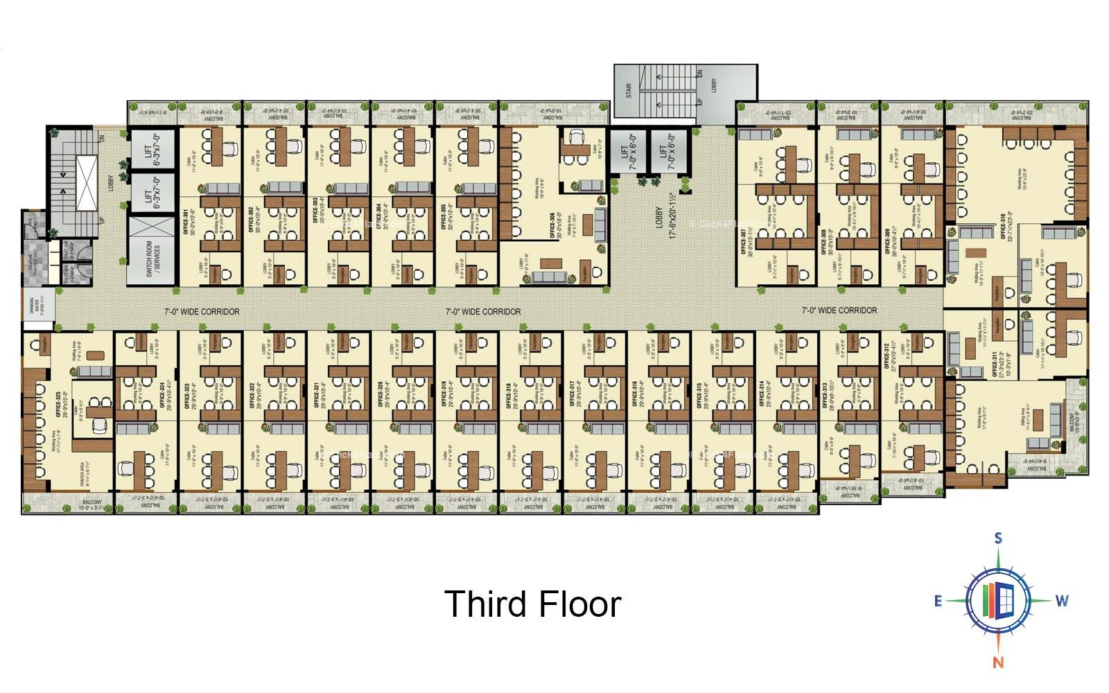 Golden Leaf Third Floor Plan