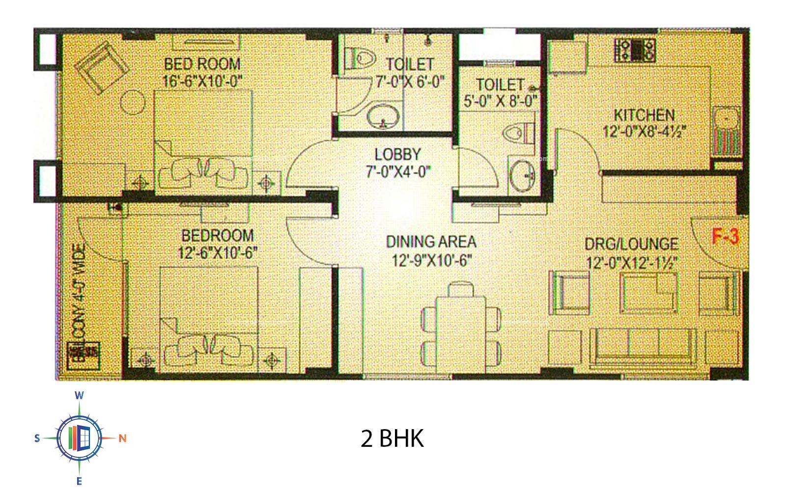 Hare Krishna Homes 2 BHK