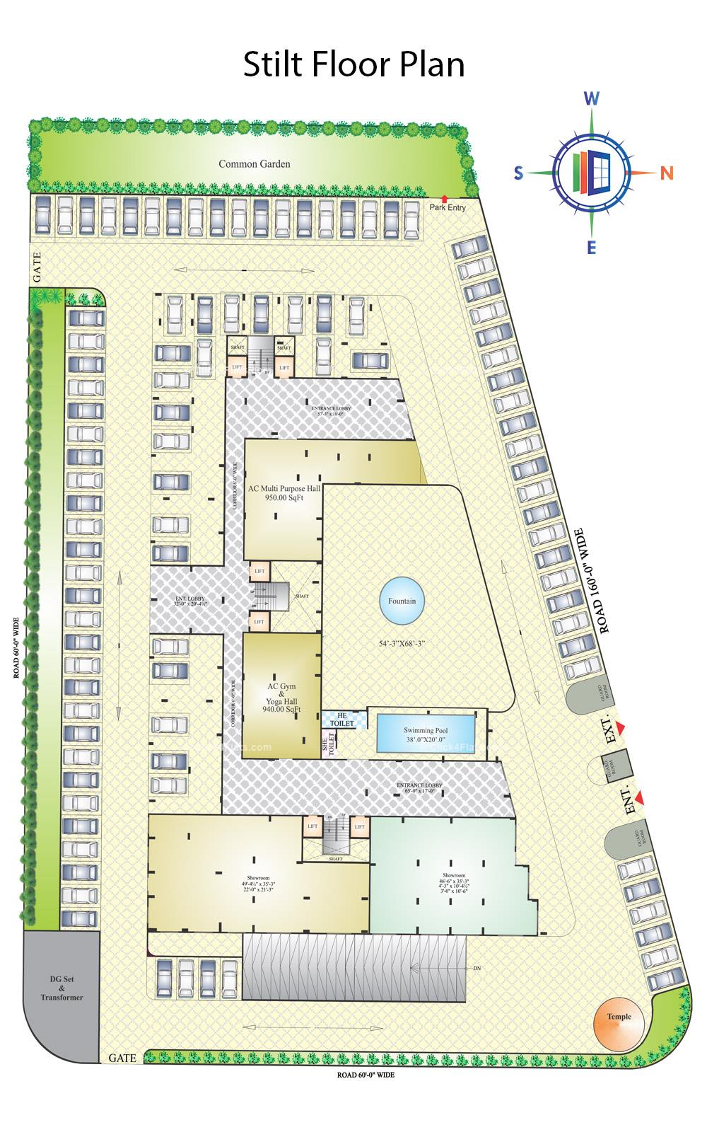 KarniKripa Homes Stilt Floor Plan