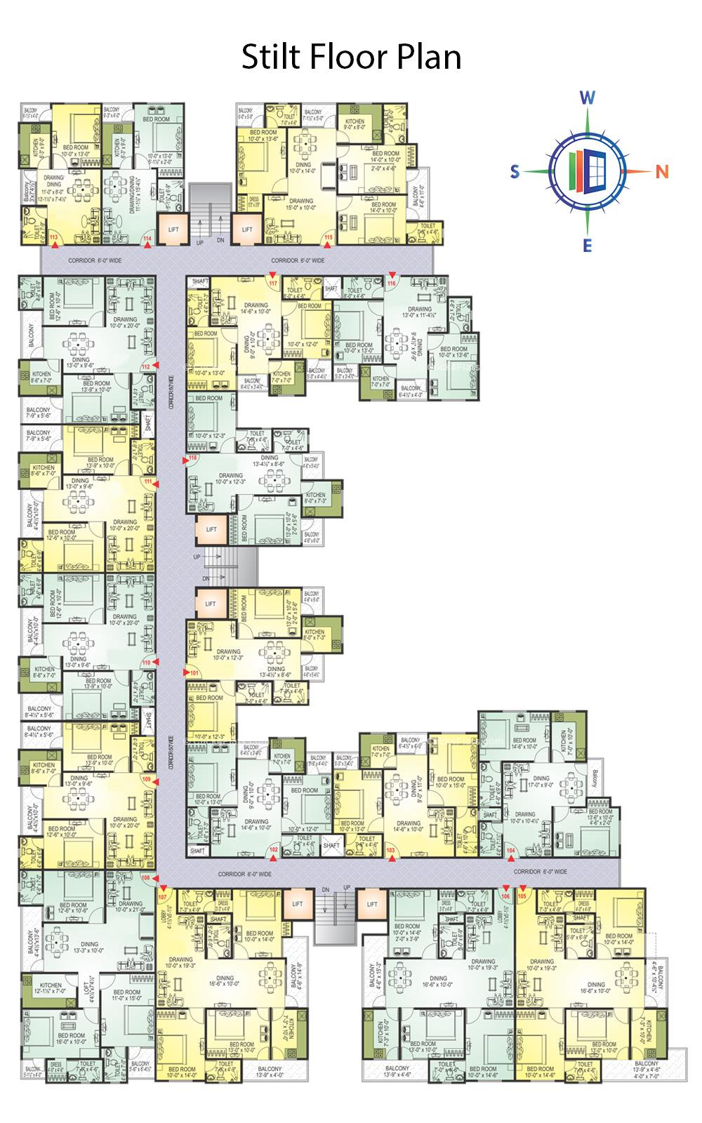KarniKripa Homes Typical Floor Plan