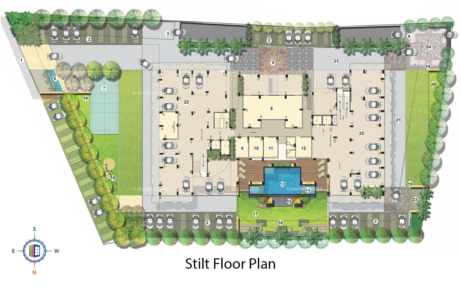 Kediaz Corporate Club Stilt Floor Plan