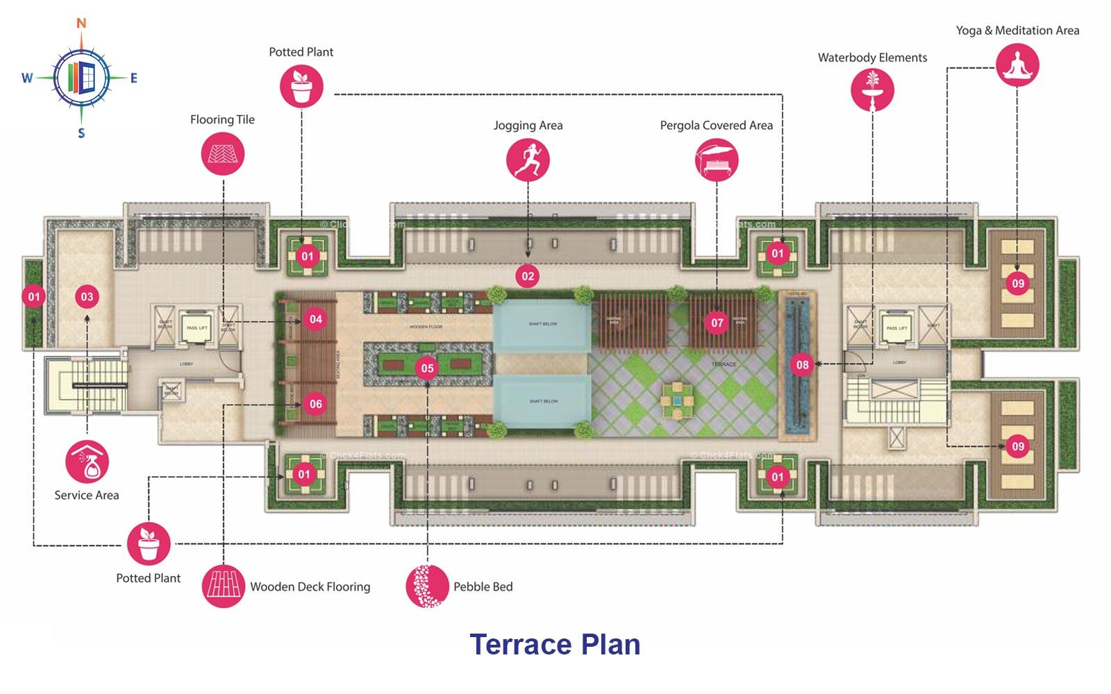 Mahima Uday Terrace Floor Plan