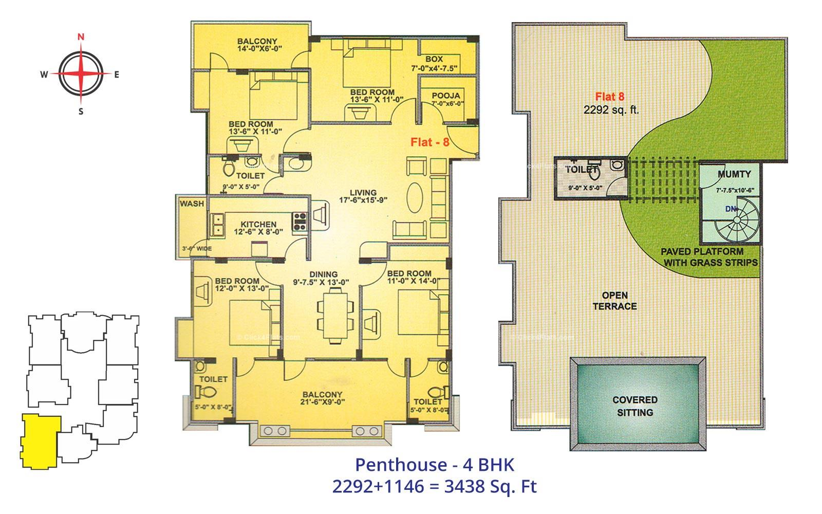 Neelkanth Heights 4 BHK
