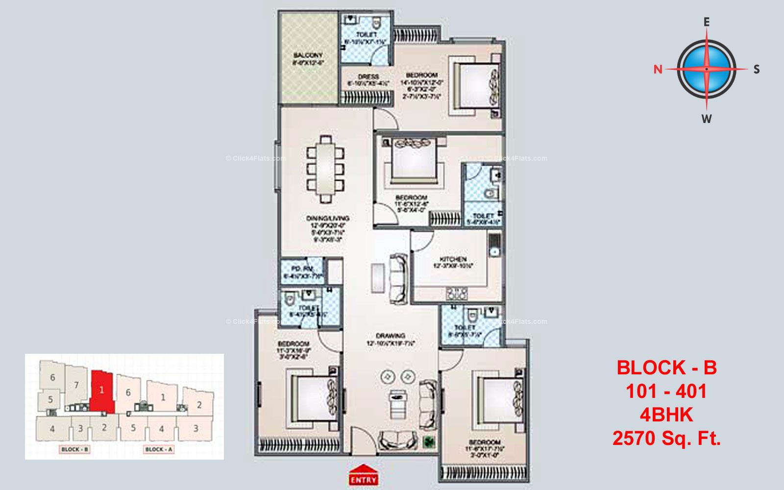 Shivgyan Luxora 4 BHK 2570 square feet