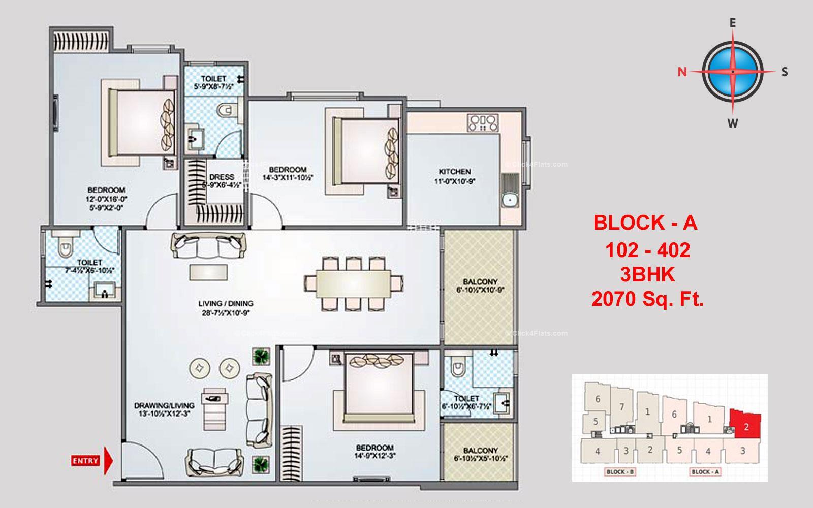 Shivgyan Luxora 3 BHK 2070 square feet