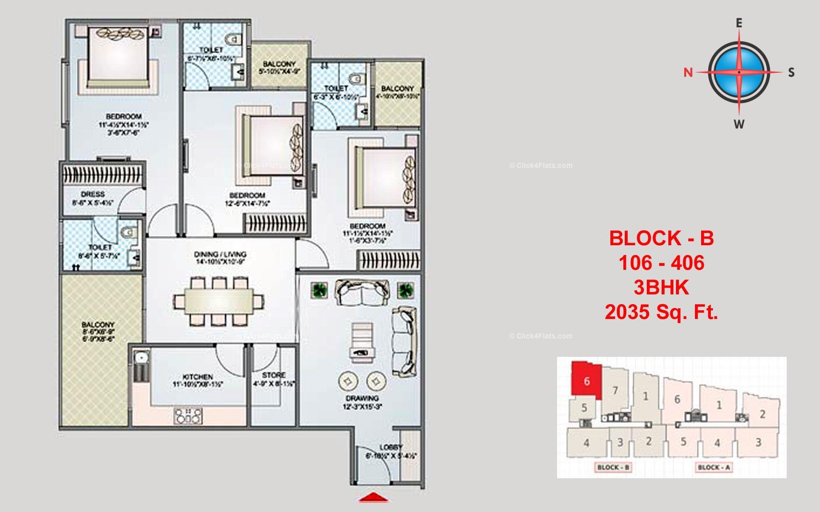 Shivgyan Luxora 3 BHK 2035 square feet