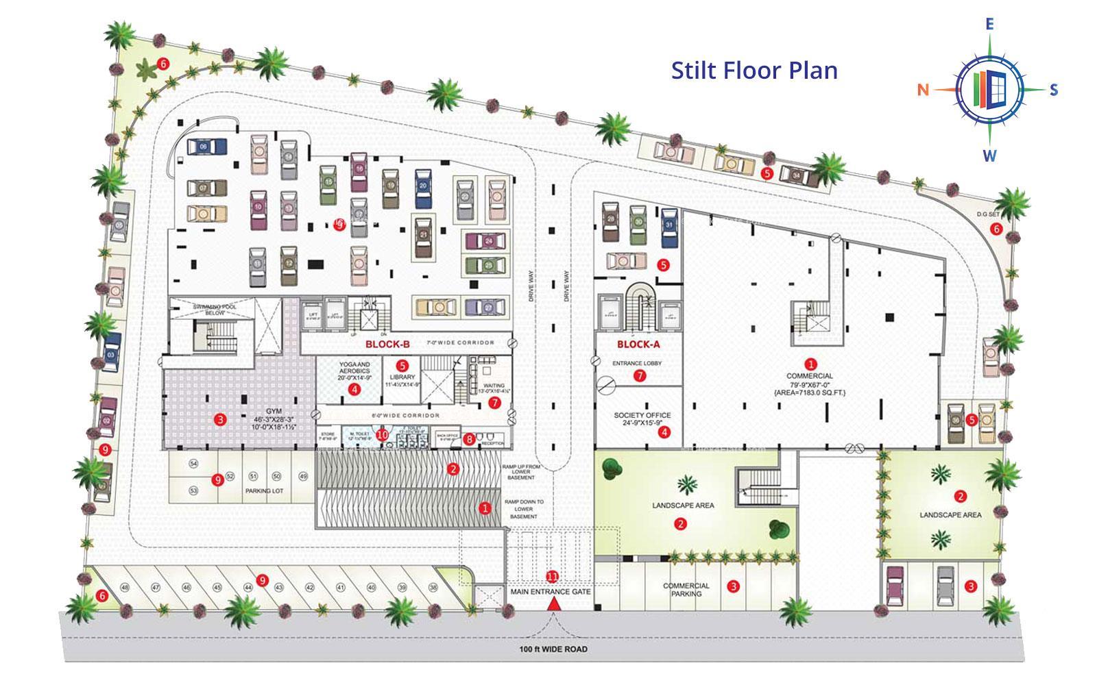 Shivgyan Luxora Stilt Floor Plan