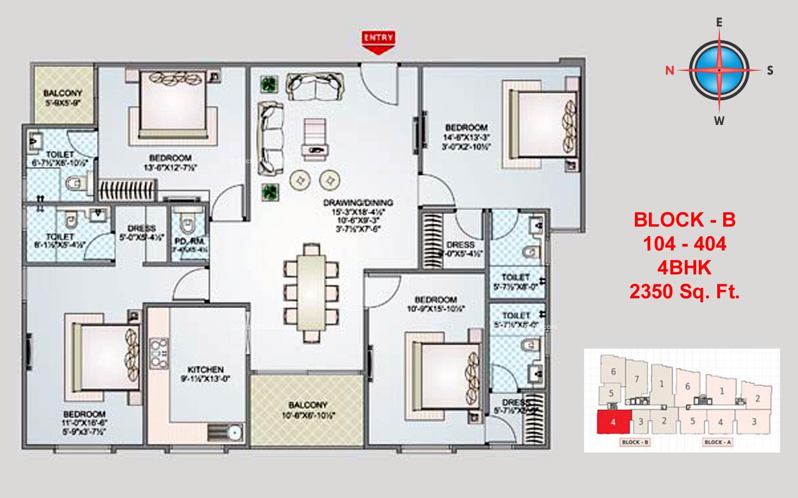 Shivgyan Luxora 4 BHK 2350 square feet