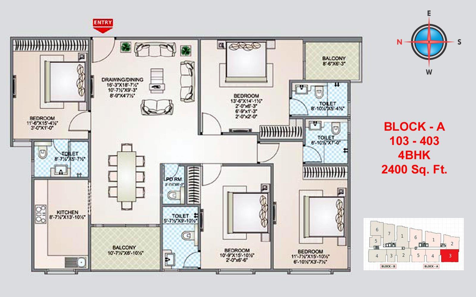Shivgyan Luxora 4 BHK 2400 square feet