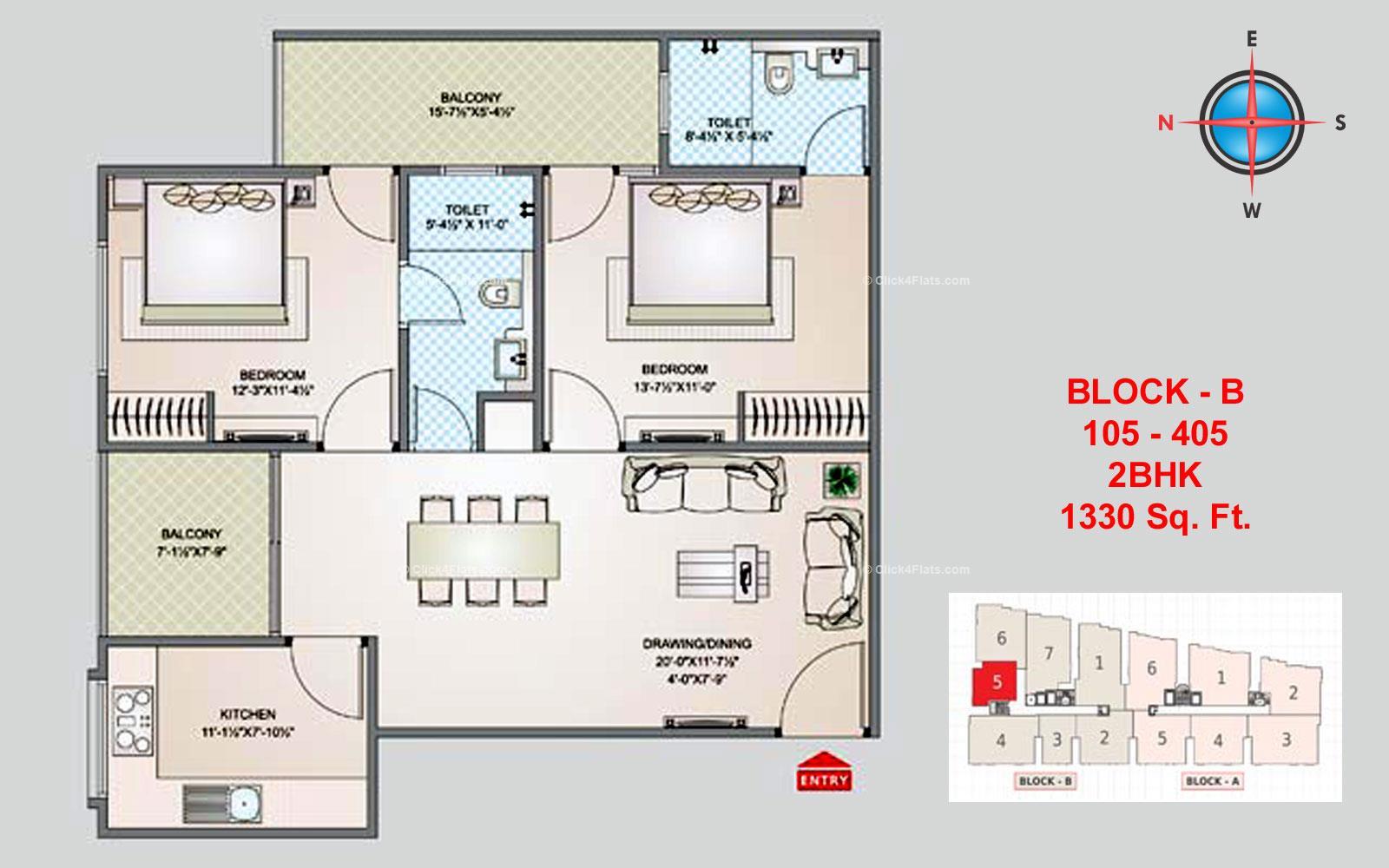 Shivgyan Luxora 2 BHK 1330 square feet