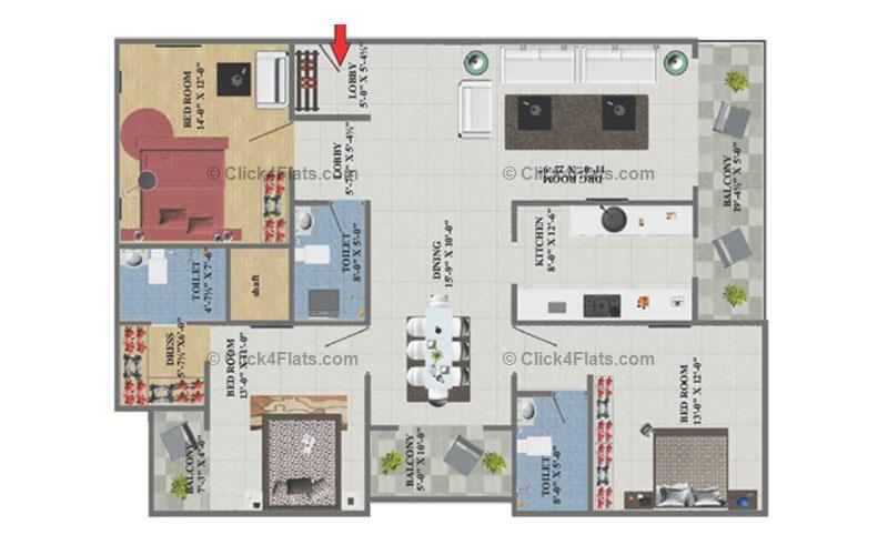 Eminent Towers 3 BHK