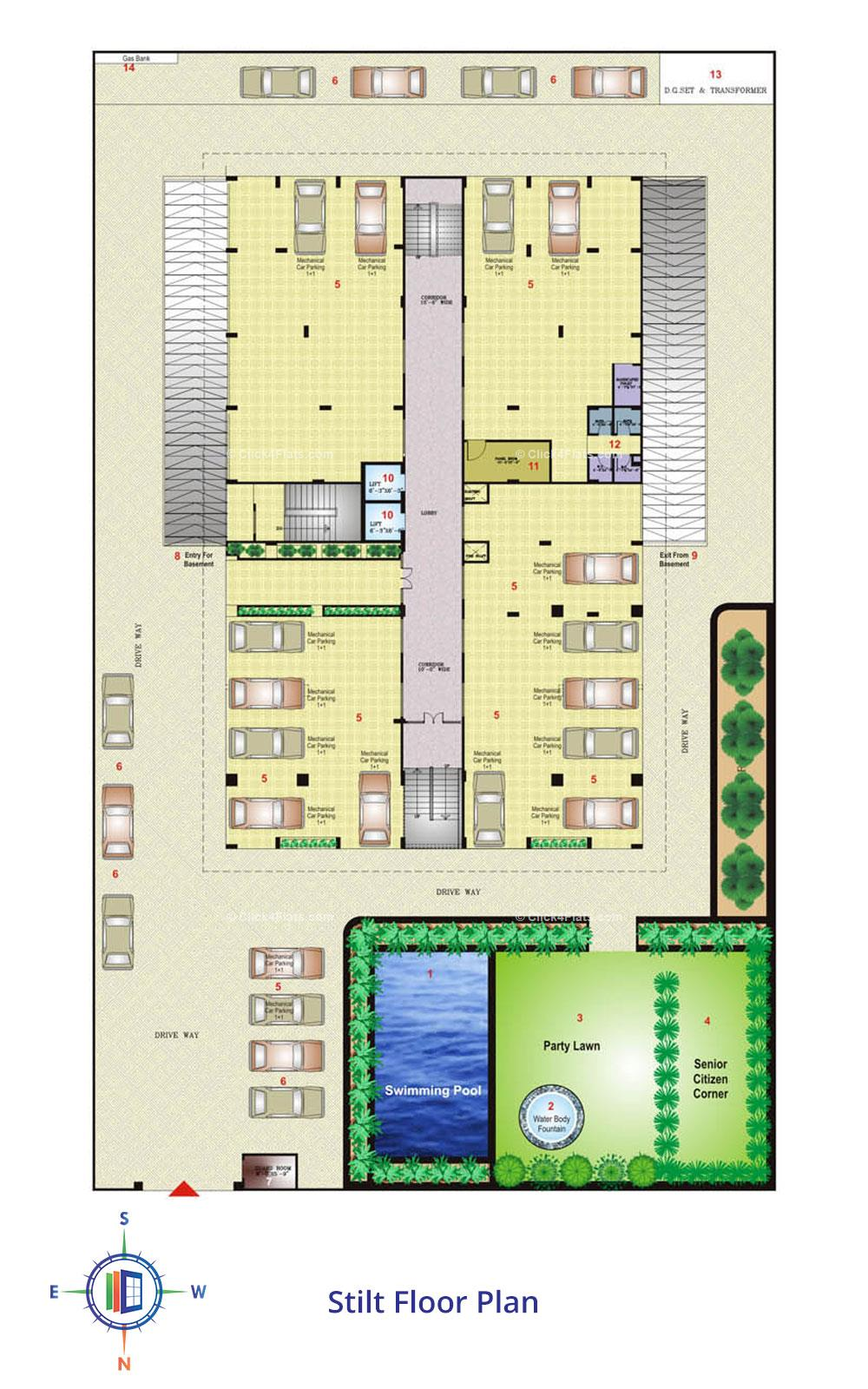 Okay Plus Anand Stilt Floor Plan