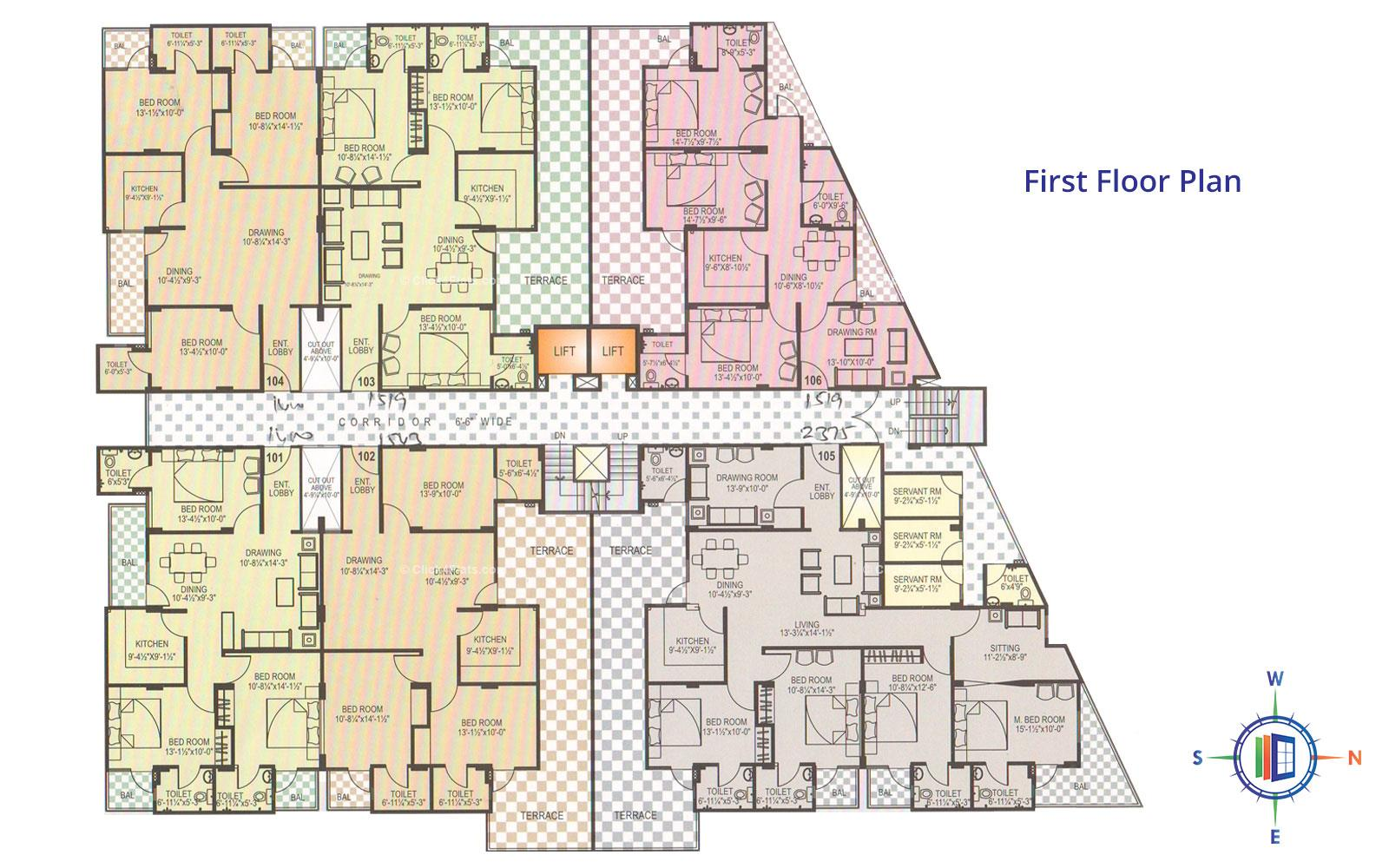 Pearl Orchid Fist Floor Plan