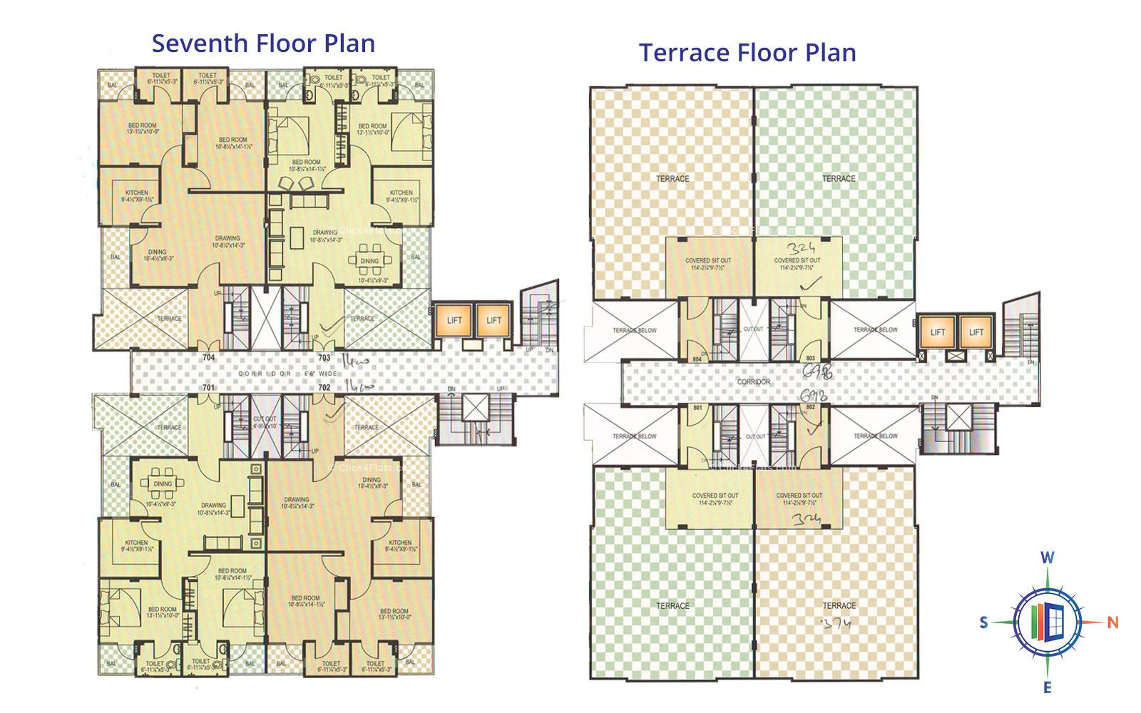 Pearl Orchid Seventh Floor Plan