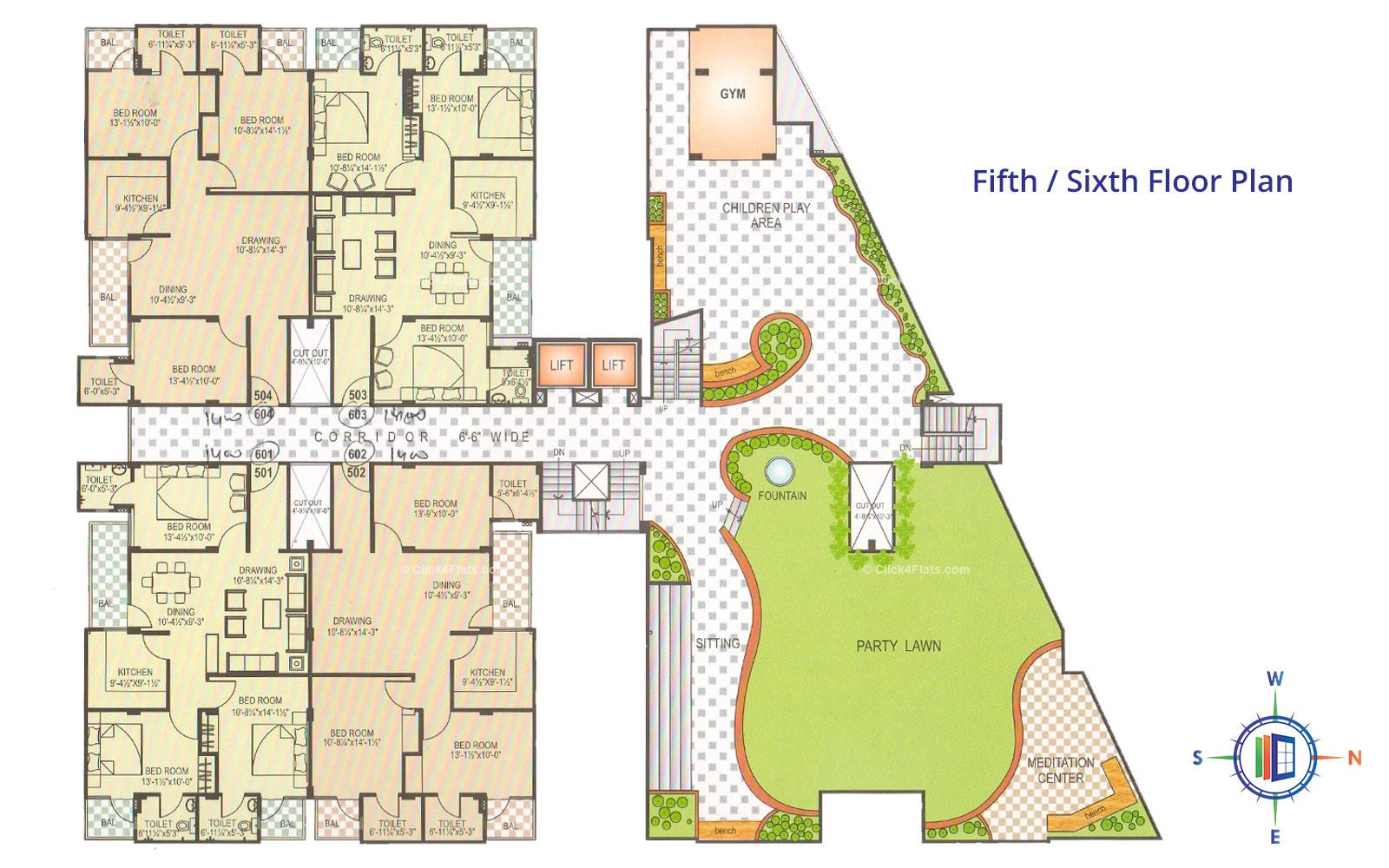 Pearl Orchid Fifth Floor Plan