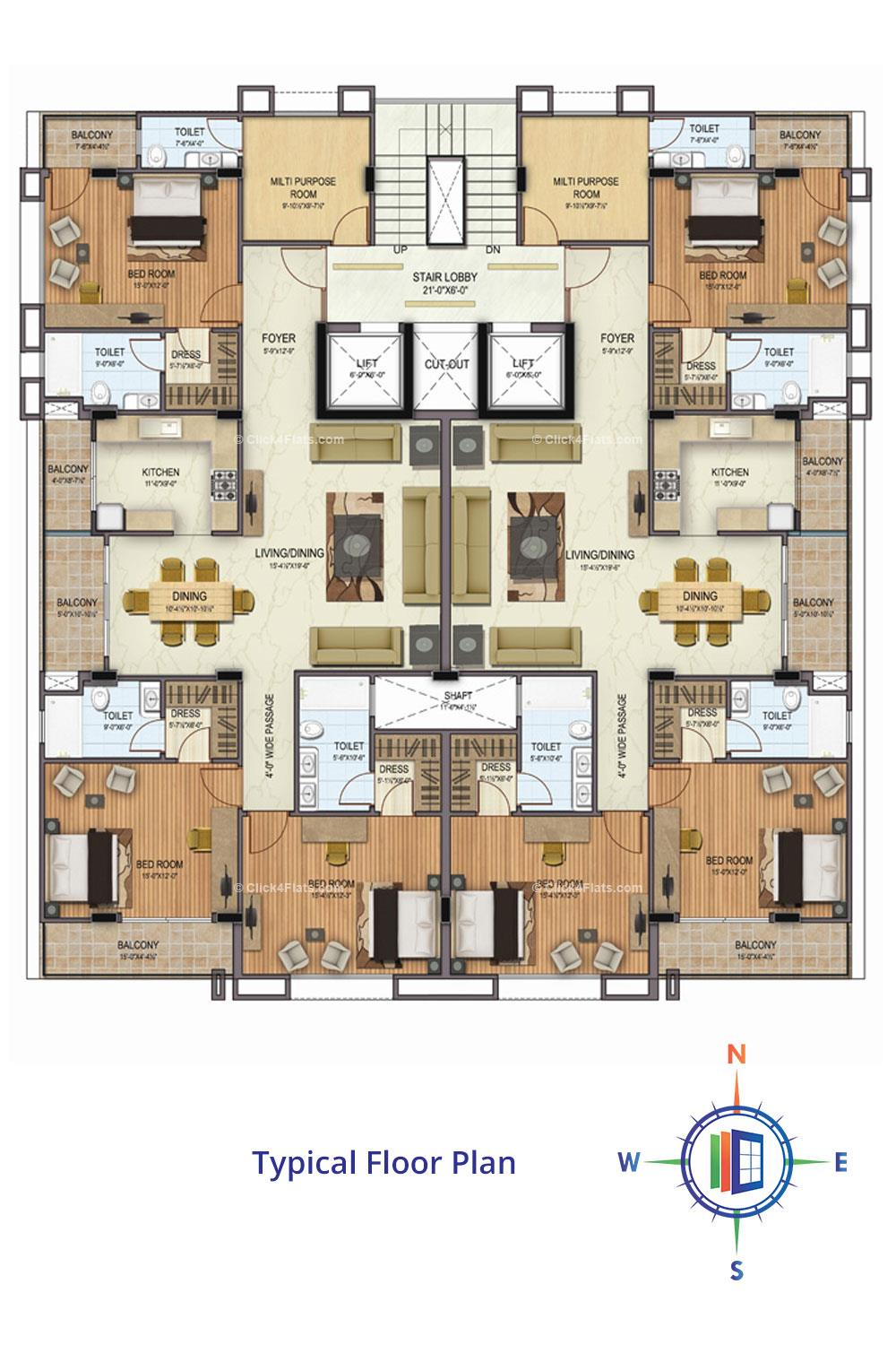 JKD Pearl Stylome Typical Floor Plan