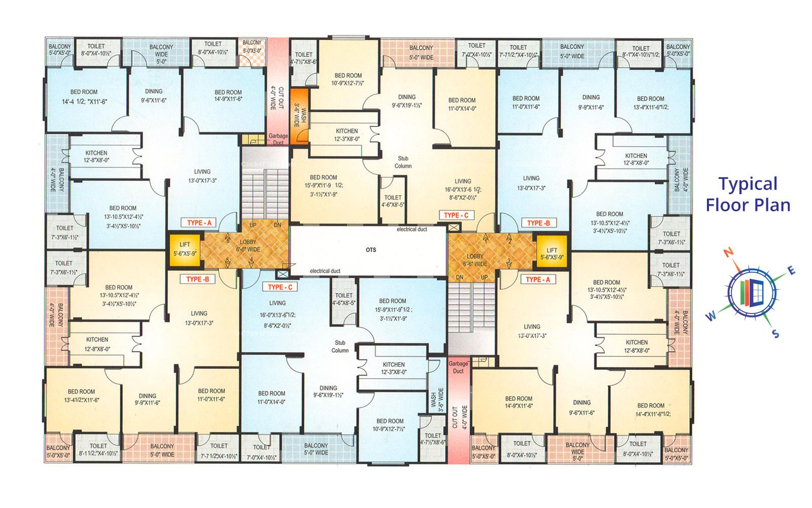 Akshat Elegance Typical Floor Plan