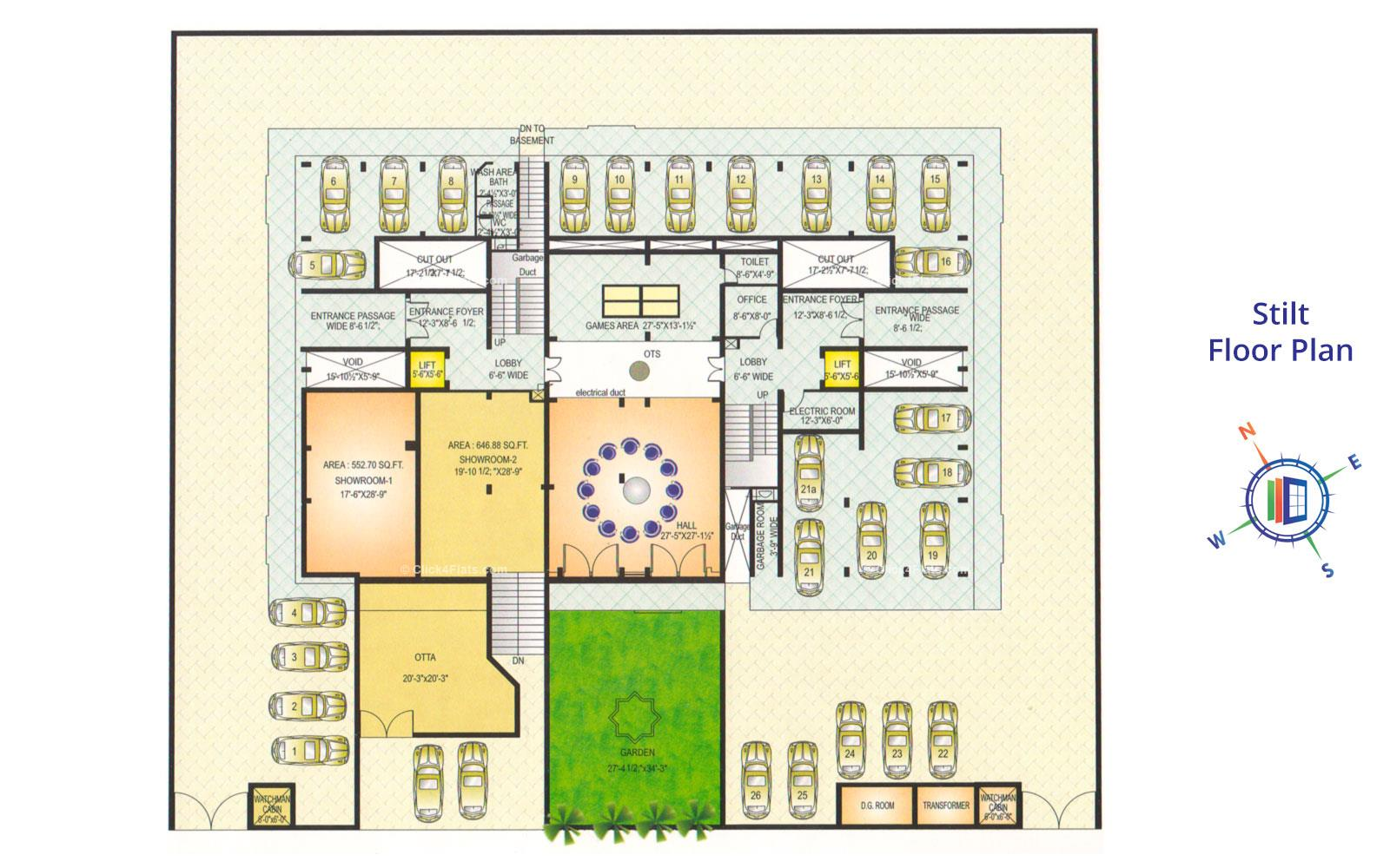 Akshat Elegance Stilt Floor Plan