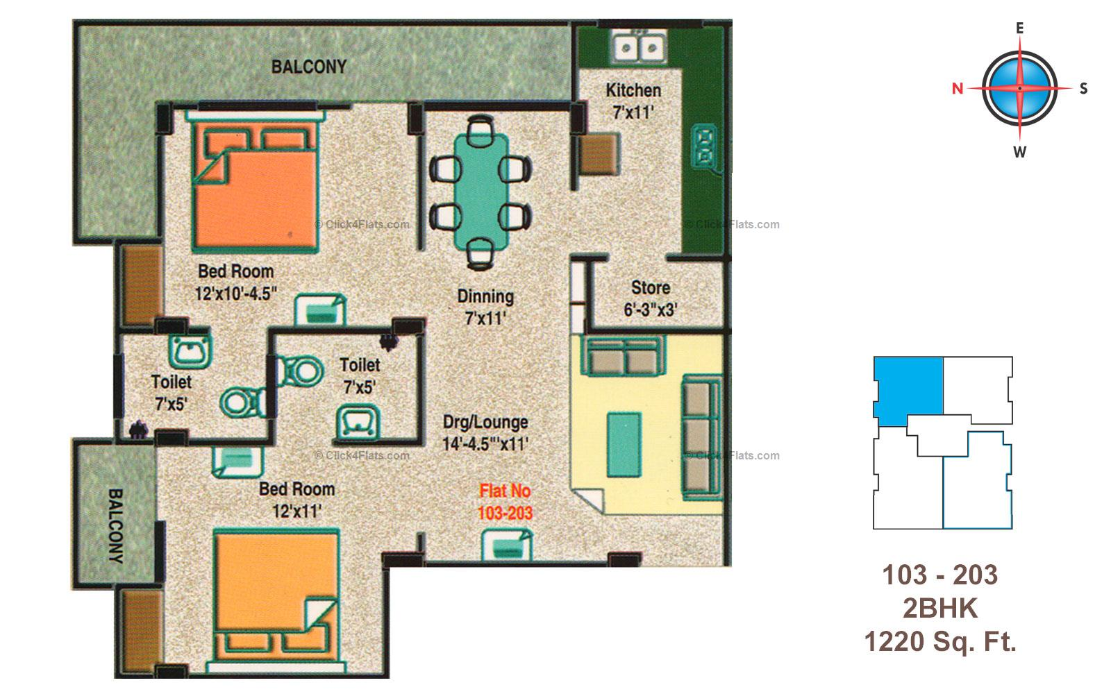 Golden Heights 2 BHK