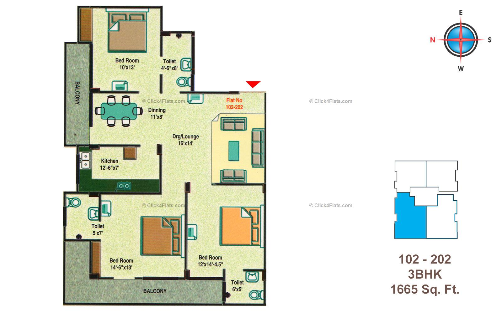 Golden Heights 3 BHK
