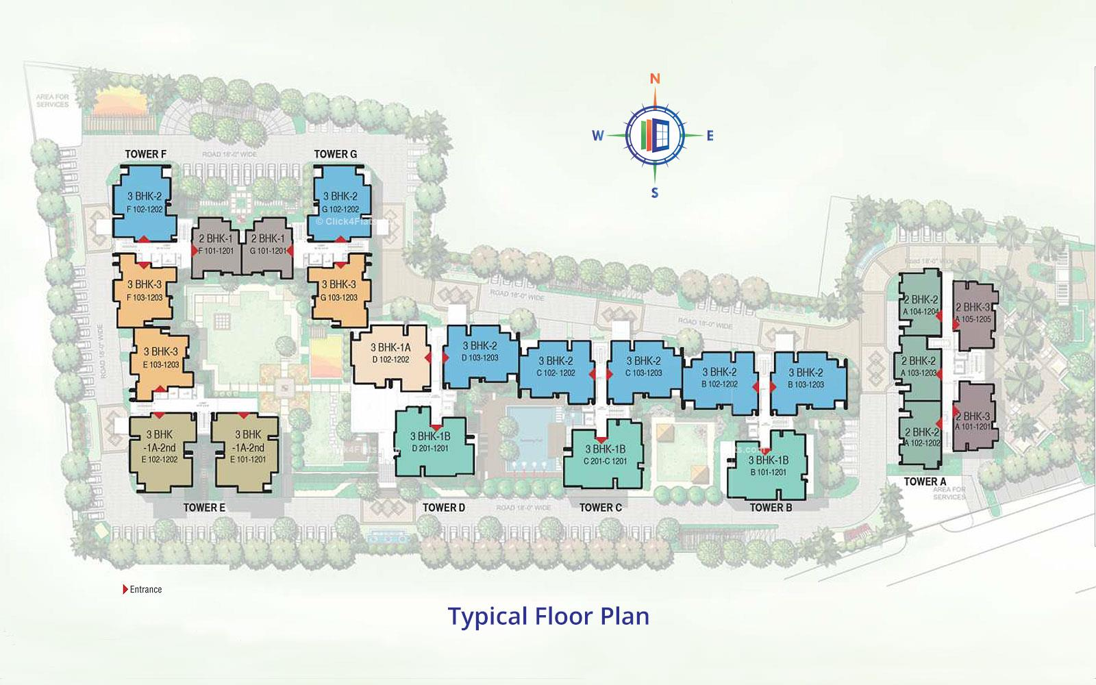 Mahima Panache Typical Floor Plan