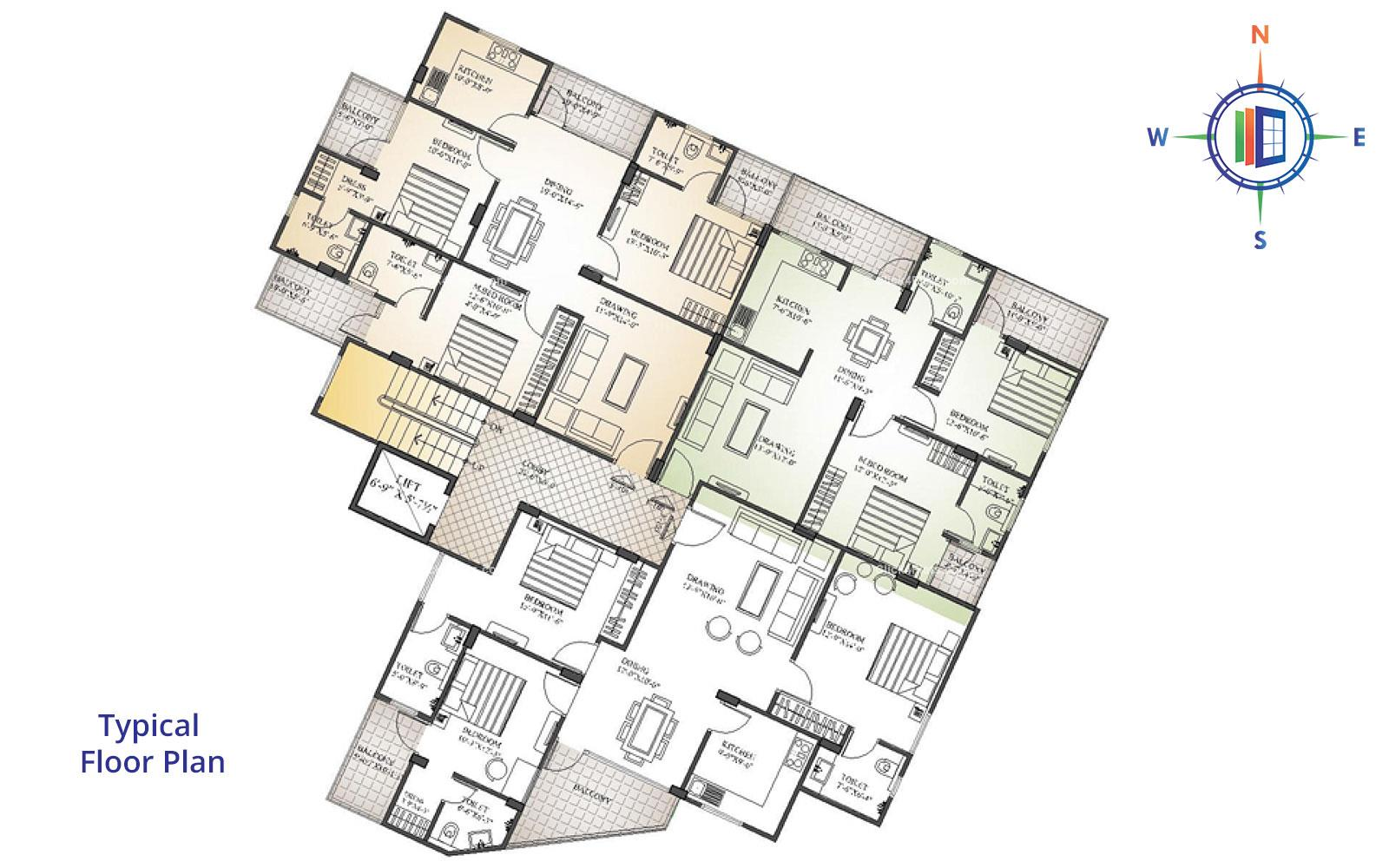 Okay Plus Lakshmi Angan Typical Floor Plan