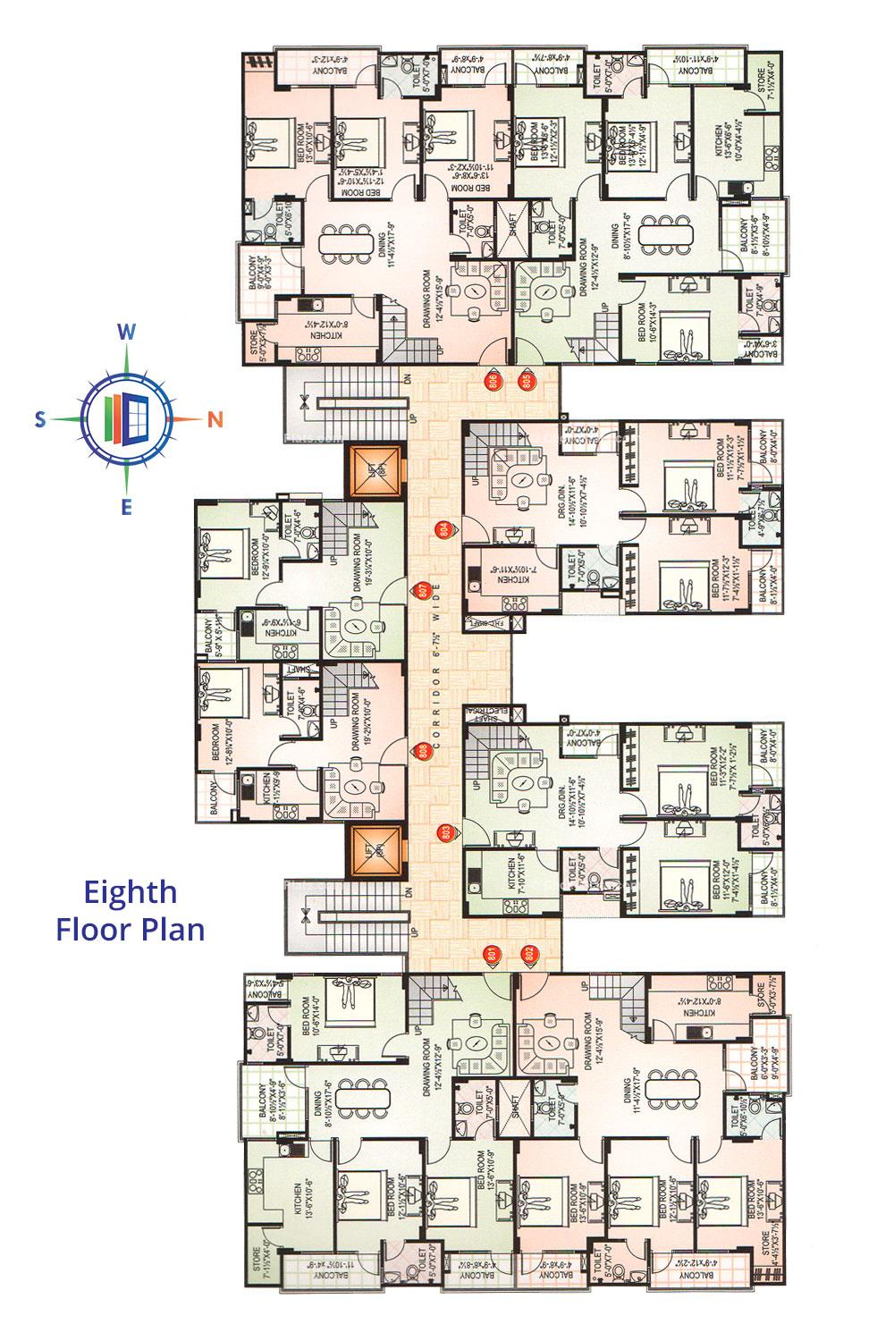 Okay Plus Green Heights Eighth Floor Plan